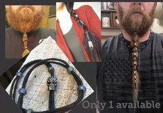 Skull Hair lacer for beards dreads hair ponytail wrap. One of a kind Skull Hair lacer for beards dre Ponytail Wrap, Hair Ponytail, Beard Dreads, Beard Accessories, Dread Hairstyles, Black Jewel, Black Rope, My Jeans, Hair And Beard Styles