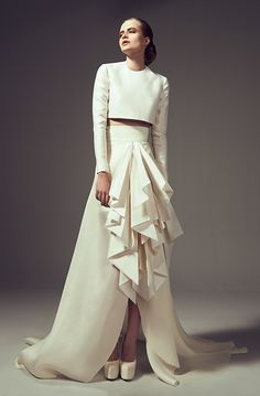 Gazer or off white dresses lebanon, gcc, china, usa, russia | Ashi Studio