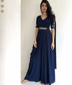 Gown Party Wear, Party Wear Indian Dresses, Designer Party Wear Dresses, Indian Gowns Dresses, Dress Indian Style, Indian Fashion Dresses, Indian Designer Outfits, Dresses For Women, Stylish Sarees