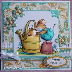 Debbie Yates: A Scrapjourney – Friendship - 9/17/11.  (Pin#1: Penny Black Stamps. Pin+: Gardening; Animals/...).