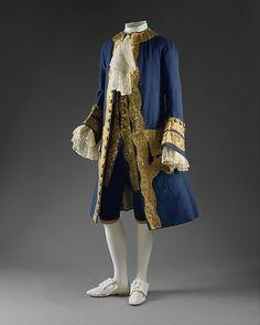 Suit   British   1760   wool, gilt metal   Metropolitan Museum of Art