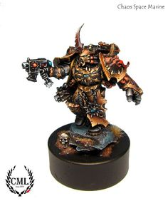 camelsonart: Another Dark Vengeance mini. Chaos Space Marine.