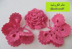 Crochet Butterfly Pattern, Crochet Bikini Pattern, Crochet Flowers, Crochet Patterns, Irish Crochet, Free Crochet, Knit Crochet, Quick Knits, Crochet World