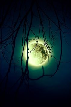 glowing moon