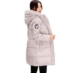 2017 Autumn Winter Jacket Women Cotton-padded Plus Size Winter Coat Thicken Warm Parkas Female Slim Hooded Overcoat SSA1