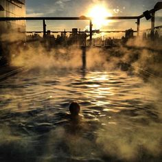 Yeah, that's steam emanating from our heated rooftop #pool. Care to take a dip? #Meatpacking #nofilter