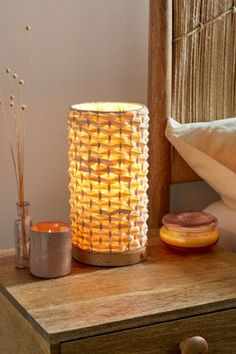 Shop Woven Lantern Table Lamp at Urban Outfitters today. Essential Oil Candles, Essential Oil Diffuser, Urban Outfitters, Adjustable Floor Lamp, Vanity Decor, Scandinavian Home, Home Lighting, Cleaning Wipes, Candle Holders