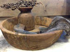 Oud houten schaal 1