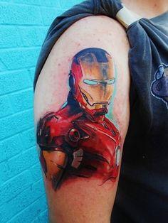 Iron Man tattoo by Trent Valleau