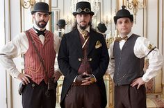 Steampunk Fashion Men 4 Steampunk Fashion Men. WOOT Steampunk fashion! Compliment your quirky Steampunk style at http://www.designyourownperfume.co.uk with a beautiful custom made perfume - choose from over 70 exciting scents; from the floral and delicate to the hypnotic, the exotic, and the strange and quixotic.
