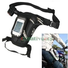 New Men Tactical Motorcycle Racing Riding Hip Bum Fanny Pack Waist Leg Thigh Bag #MultipurposeFannyPackWaistLegThighDropBag