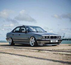 BMW E34 5 series silver