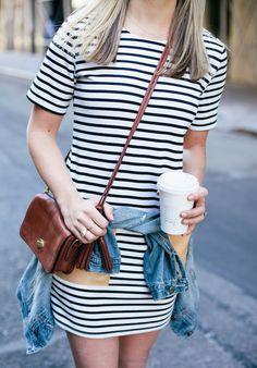 Spring Striped Dress
