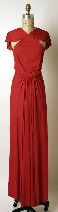 Silk evening dress, Madame Gres (Alix Barton), 1970