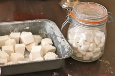 Mmmmmm! Homemade marshmallows! All you need is simple syrup, gelatin, and egg whites . Great pictures and instructions!