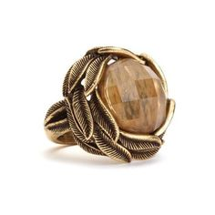 Citrine Stone feather Ring - Accessories - Lucky Brand Jeans and other apparel, accessories and trends. Browse and shop 8 related looks.