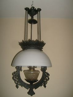 Antique Wall Hanging Oil Lamps : Hanging oil lamps on Pinterest Oil Lamps, Iron Wall and Ebay