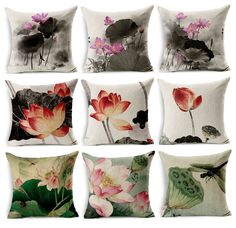 Table & Sofa Linens Modest Scenic Vintage Decorative Cushion Covers Painting Garden Lavender Flower Home Linen Pillow Case Decor Cushioncover For Sofa Seat Clearance Price Home & Garden