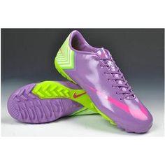 promo code 7dd05 a1744 Nike Mercurial Vapor X TF Cleats - Medium Purple Hot Pink Fluorescent Green New  Soccer Shoes 2013