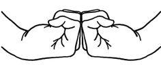 BRAHMA MUDRA - gesture of all-pervading consciousness - stimulates a full breath in pranayama practice.
