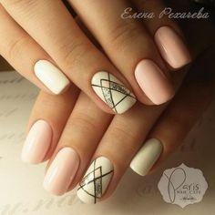 Accurate nails, Cool nails, Everyday nails, Geometric nails, Medium nails, ring finger nails, Summer nail art , Summer nails 2017 More