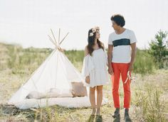 Bohemian engagement photo shoot Floral crown & flowers by the flower factory Makeup by Carol hung Photography by Nadia hung Hair by Emily hedman Shot with film  Boho bride boho bohemian headpiece  Teepee bouquet