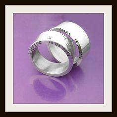 <3 #Engagementrings #personalized #sterlingsilver