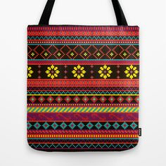Geometric Summer Pattern Tote Bag