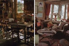 Saw this while googling boho decor. recognized the Weasley kitchen instantly. ♥