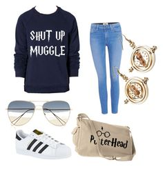 """""""Harry potter❤️"""" by eva-cox on Polyvore featuring mode, Paige Denim, Isabel Marant en adidas"""