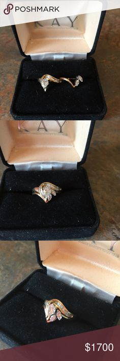 Kay Jewelers Diamond Engagement/Wedding Set This is a set that fits together as one.  It is a really nice wedding set.  Bought it but it did not work out. Would like to get some of my money back.  Bought at Kay Jewelers in Bowling Green, KY.  Size 5  Both rings purchase price totaled $3590.00.  I caught it on sale for $2021.00.  Price includes shipping insurance. Kay Jewelers Jewelry Rings