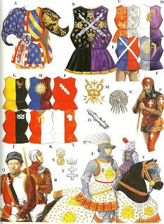 Examples of livery. The first two examples showing reconstructions of what bodyguards of the dukes of Burgundy wore. Such bold and lavish displays were necessary to develop an impressive reputation.