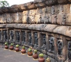 64 Yoginis in Sculptures Architecture In reference to the sixty four yoginis liberated by Goddess Durga during her epic battle with the asuras, there are four major extant yogini temples in India, two in Odisha and two in Madhya Pradesh. The iconographies that one gets to see in the Yogini temples aren't uniform.