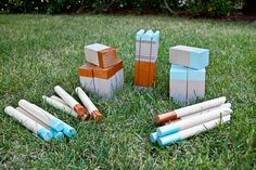 Kubb Game.  Rules : http://media.aadl.org/files/catalog_guides/1450139_instructions.pdf