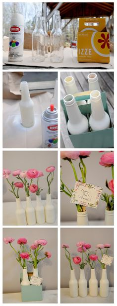 Really cute. Might try this and paint designs over the white spray paint.