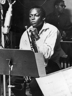"Miles Davis (October 1959) ~ Recording session for the seminal jazz album, ""Kind of Blue"""
