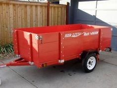 """From the """"Little Red Trailer"""" Site. Classic Radio Flyer Looks and sturdy looking too. - RedTrailers.com"""
