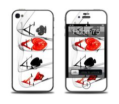 Quad Aces Poker Iphone 4/4s/5 Galaxy S3 Skin and by Room75 on Etsy, $8.99