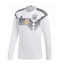2018 World Cup Jersey Germany,all wholesale cheap football shirts are good AAA+ quality and fast shipping,all the soccer uniforms will be shipped as soon as possible,guaranteed original best quality China soccer shirts Soccer Gear, Soccer Shop, Football Shirts, Soccer Jerseys, Adidas Long Sleeve Shirt, Long Sleeve Shirts, World Cup 2018, Fifa World Cup, France World Cup Jersey