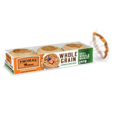 Thomas' Whole Wheat English Muffins - 12oz/6ct : Target Whole Wheat English Muffin, English Muffins, Best Toasts, Whole Grain Wheat, Personal Pizza, Pizza And More, Fiber Diet, Egg Sandwiches, Egg Muffins