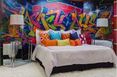 graffiti Style Bedroom   Bedroom Design Ideas-Home and Garden Design Ideas, Graffiti ...   Int ...
