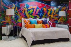 graffiti Style Bedroom | Bedroom Design Ideas-Home and Garden Design Ideas, Graffiti ... | Int ...