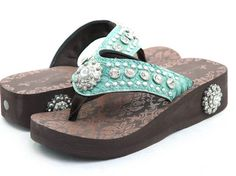 Montana West Flip-Flops, Light Turquoise! Sooo cute & comfy!