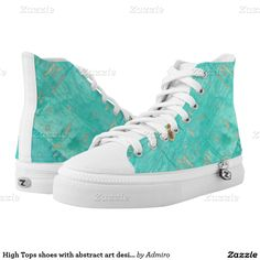 High Tops shoes with abstract art design Printed Shoes Printed Shoes, Converse Chuck Taylor, Flask, High Tops, Athletic Shoes, High Top Sneakers, Abstract Art, Pairs, Running
