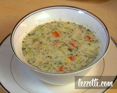 Cream of Vegetable soup My Recipes, Soup Recipes, Favorite Recipes, Healthy Recipes, Cream Of Vegetable Soup, Turkish Kitchen, Chowder Recipes, Middle Eastern Recipes, Turkish Recipes
