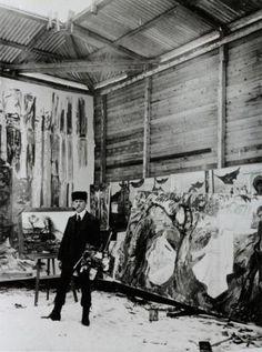 Edvard Munch en su estudio