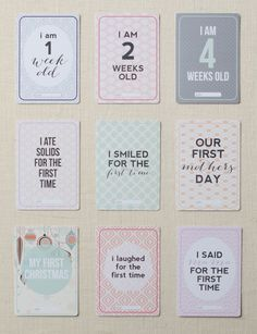 Open-Minded Baby Girl Milestone Cards Baby Photo Props Woodland Animals 28 Card Set