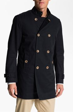 PLECTRUM by Ben Sherman Double Breasted Trench Coat