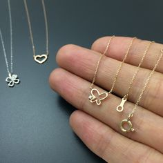 diamond butterfly pendant solid gold necklace minimalist jewelry