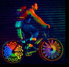 Hokey Spokes Wireless LED Bicycle Lights are awesome! I have them on my trike, but now they are much cheaper... $19.95